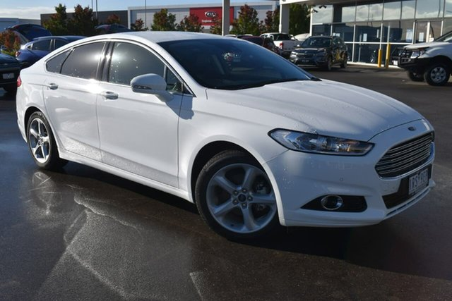 Used Ford Mondeo MD 2018.75MY Trend Essendon Fields, 2018 Ford Mondeo MD 2018.75MY Trend White 6 Speed Sports Automatic Dual Clutch Hatchback