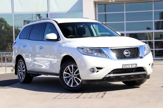 Used Nissan Pathfinder R52 MY15 ST X-tronic 2WD Liverpool, 2015 Nissan Pathfinder R52 MY15 ST X-tronic 2WD White 1 Speed Constant Variable Wagon