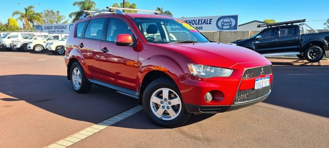 Used Mitsubishi Outlander ZG MY09 LS East Bunbury, 2009 Mitsubishi Outlander ZG MY09 LS Red 6 Speed Constant Variable Wagon
