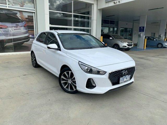 Used Hyundai i30 PD2 MY18 Elite Melton, 2018 Hyundai i30 PD2 MY18 Elite Polar White 6 Speed Sports Automatic Hatchback