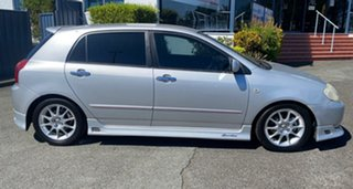 2004 Toyota Corolla ZZE123R Sportivo Silver 6 Speed Manual Hatchback.