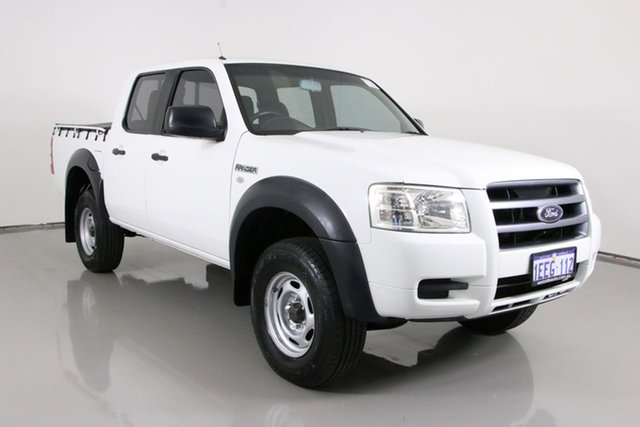 Used Ford Ranger PJ 07 Upgrade XL (4x2) Bentley, 2008 Ford Ranger PJ 07 Upgrade XL (4x2) White 5 Speed Automatic Dual Cab Pick-up