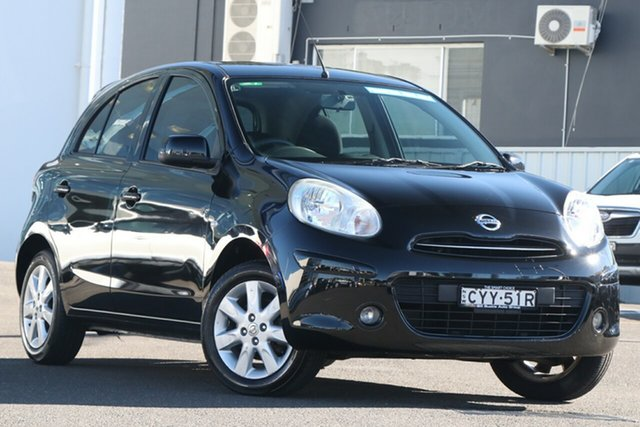 Pre-Owned Nissan Micra K13 MY13 ST-L Brookvale, 2014 Nissan Micra K13 MY13 ST-L Black 5 Speed Manual Hatchback
