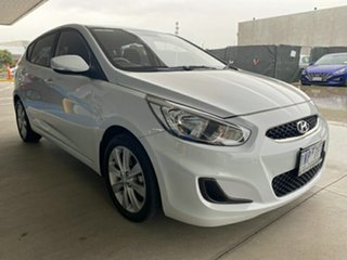 2018 Hyundai Accent RB6 MY18 Sport Chalk White 6 Speed Sports Automatic Hatchback.