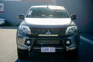 2018 Mitsubishi Triton MQ MY18 Blackline Double Cab Grey 5 Speed Sports Automatic Utility
