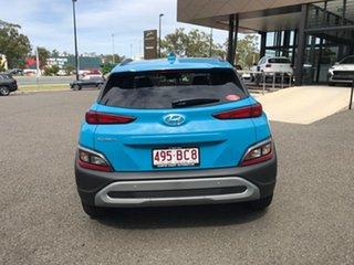 2020 Hyundai Kona Os.v4 MY21 Active 2WD Blue 8 Speed Constant Variable Wagon