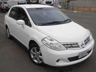 2012 Nissan Tiida C11 S3 ST White 4 Speed Automatic Sedan.