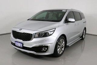 2015 Kia Carnival YP Platinum Silver 6 Speed Automatic Wagon.