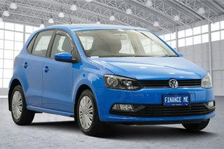 2016 Volkswagen Polo 6R MY17 66TSI DSG Trendline Cornflower Blue 7 Speed.