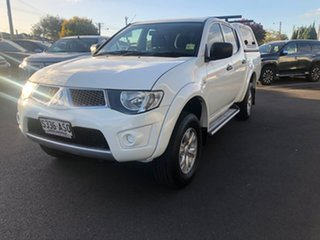 2012 Mitsubishi Triton MN MY12 GL-R Double Cab 4x2 White 4 Speed Automatic Utility