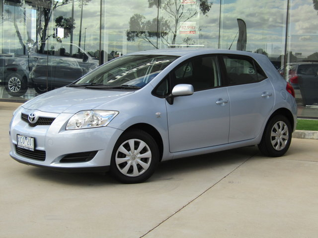 Used Toyota Corolla ZRE152R Ascent Ravenhall, 2009 Toyota Corolla ZRE152R Ascent Blue 4 Speed Automatic Hatchback
