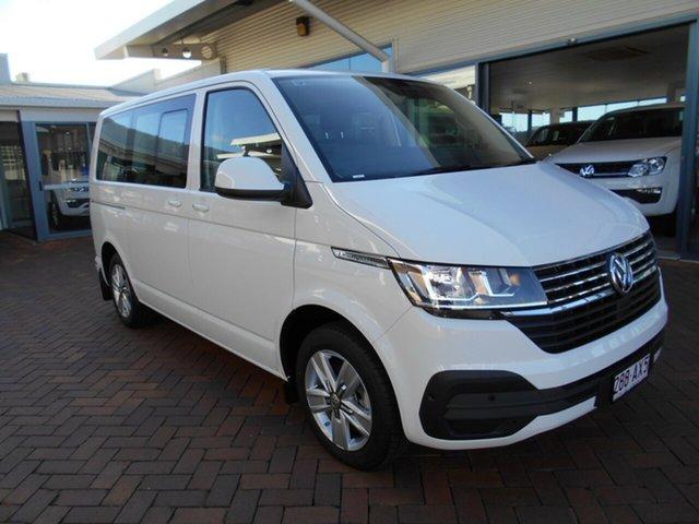 Demo Volkswagen Multivan T6.1 MY21 TDI340 SWB DSG Comfortline Premium Toowoomba, 2020 Volkswagen Multivan T6.1 MY21 TDI340 SWB DSG Comfortline Premium White 7 Speed