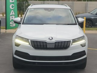 2019 Skoda Karoq NU MY20 110TSI DSG FWD White 7 Speed Sports Automatic Dual Clutch Wagon.