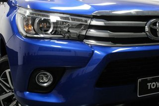 2018 Toyota Hilux GUN126R SR5 Double Cab Blue 6 Speed Sports Automatic Utility.