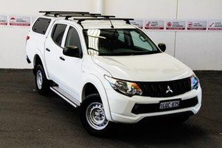2018 Mitsubishi Triton MQ MY18 GLX White 5 Speed Automatic Dual Cab Utility.