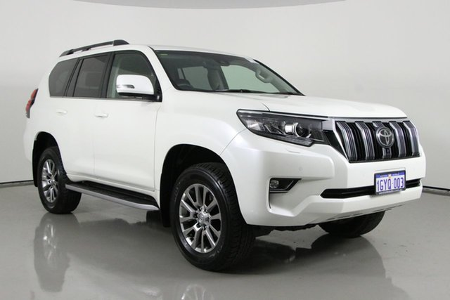 Used Toyota Landcruiser Prado GDJ150R MY18 VX (4x4) Bentley, 2020 Toyota Landcruiser Prado GDJ150R MY18 VX (4x4) Pearl White 6 Speed Automatic Wagon