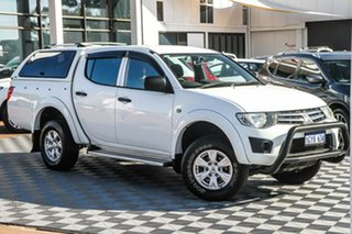 2015 Mitsubishi Triton MQ MY16 GLX Double Cab White 5 Speed Sports Automatic Utility.