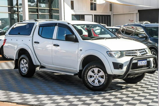 Used Mitsubishi Triton MQ MY16 GLX Double Cab Attadale, 2015 Mitsubishi Triton MQ MY16 GLX Double Cab White 5 Speed Sports Automatic Utility
