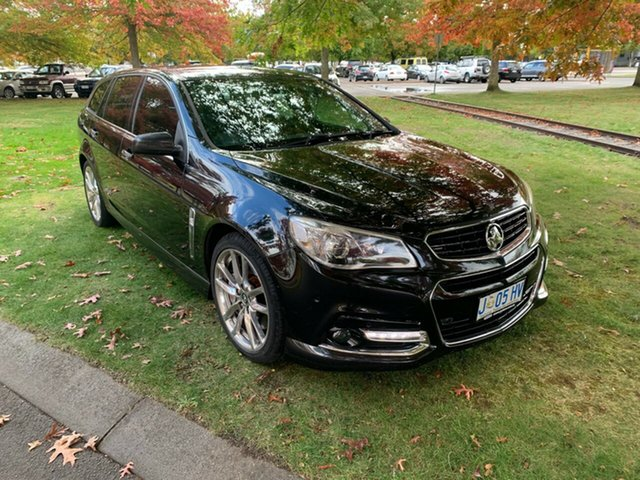 Used Holden Commodore VF MY14 SS V Sportwagon Redline Launceston, 2014 Holden Commodore VF MY14 SS V Sportwagon Redline Black 6 Speed Sports Automatic Wagon