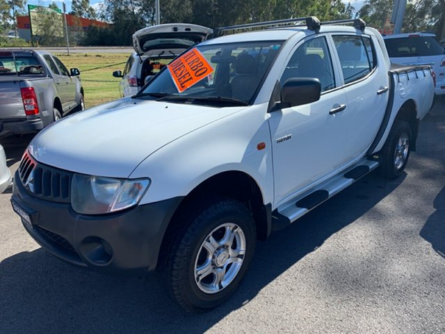 Used Mitsubishi Triton ML MY08 GLX Double Cab 4x2 Maitland, 2008 Mitsubishi Triton ML MY08 GLX Double Cab 4x2 White 5 Speed Manual Utility