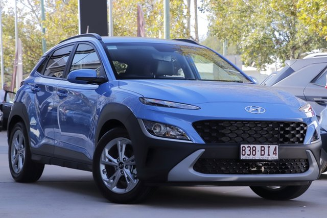 Demo Hyundai Kona Os.v4 MY21 Active 2WD Toowoomba, 2020 Hyundai Kona Os.v4 MY21 Active 2WD Surfy Blue 8 Speed Constant Variable Wagon