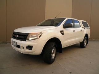 2013 Ford Ranger PX XL Hi-Rider White Silk 6 Speed Manual Utility.