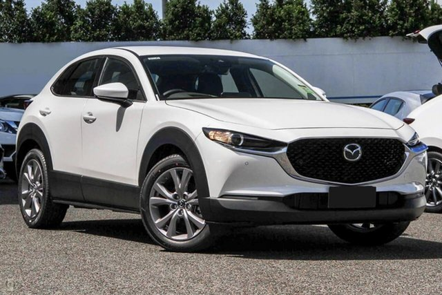 New Mazda CX-30 DM2W7A G20 SKYACTIV-Drive Touring Waitara, 2021 Mazda CX-30 DM2W7A G20 SKYACTIV-Drive Touring White 6 Speed Sports Automatic Wagon