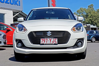 2018 Suzuki Swift AZ GLX Turbo Pure White 6 Speed Sports Automatic Hatchback.