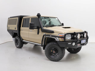 2020 Toyota Landcruiser 70 Series VDJ79R GXL Sandy Taupe 5 Speed Manual Double Cab Chassis.