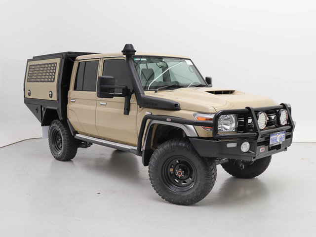 Used Toyota Landcruiser 70 Series VDJ79R GXL, 2020 Toyota Landcruiser 70 Series VDJ79R GXL Sandy Taupe 5 Speed Manual Double Cab Chassis