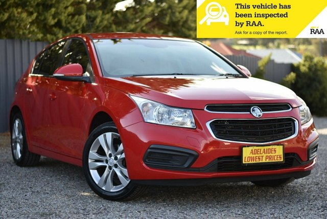 Used Holden Cruze JH Series II MY15 Equipe Morphett Vale, 2015 Holden Cruze JH Series II MY15 Equipe Red 6 Speed Sports Automatic Hatchback