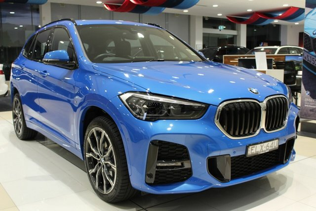 Demo BMW X1 F48 LCI xDrive25i Steptronic AWD Newcastle West, 2020 BMW X1 F48 LCI xDrive25i Steptronic AWD Misano Blue Metallic 8 Speed Sports Automatic Wagon