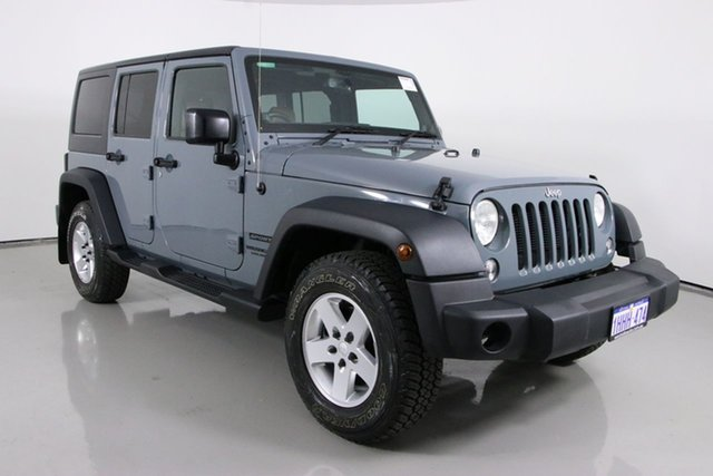 Used Jeep Wrangler Unlimited JK MY15 Sport (4x4) Bentley, 2015 Jeep Wrangler Unlimited JK MY15 Sport (4x4) Grey 5 Speed Automatic Softtop
