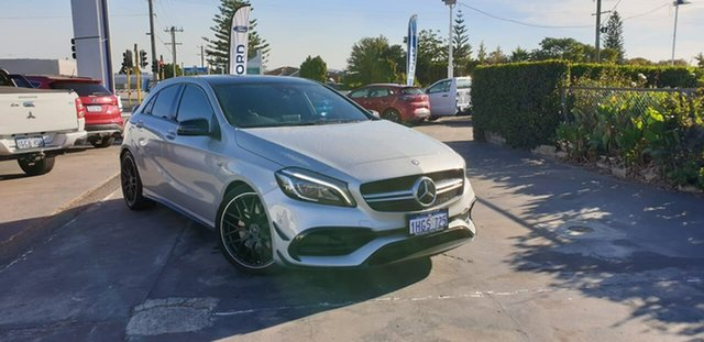 Used Mercedes-Benz A-Class W176 807MY A45 AMG SPEEDSHIFT DCT 4MATIC Morley, 2017 Mercedes-Benz A-Class W176 807MY A45 AMG SPEEDSHIFT DCT 4MATIC Silver 7 Speed