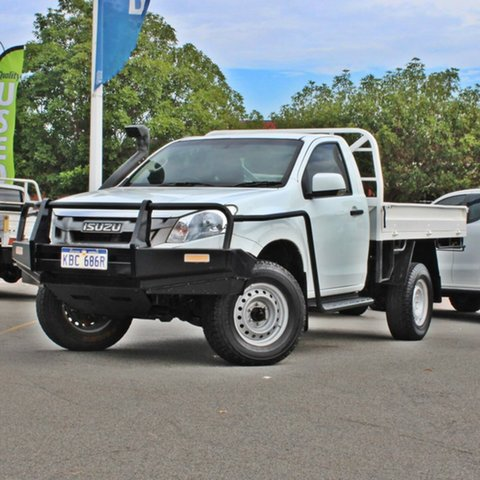 Used Isuzu D-MAX MY15 SX Midland, 2015 Isuzu D-MAX MY15 SX White 5 Speed Manual Cab Chassis