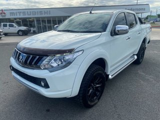 2017 Mitsubishi Triton MQ MY17 GLS Double Cab Sports Edition White Solid 5 Speed Sports Automatic