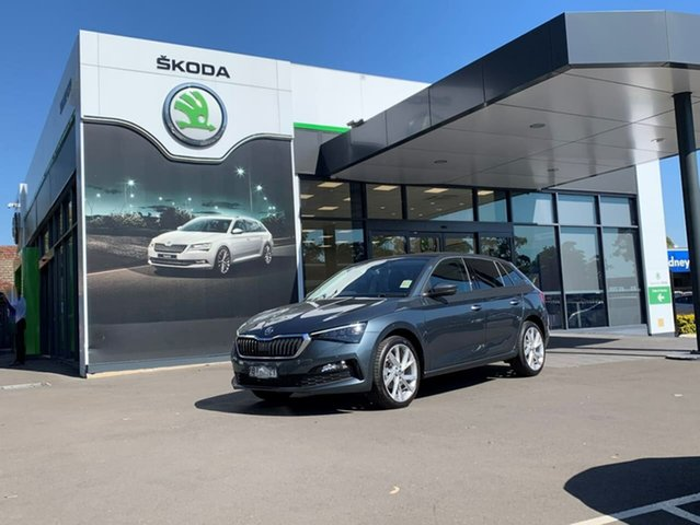 Demo Skoda Scala NW MY21 110TSI DSG Botany, 2021 Skoda Scala NW MY21 110TSI DSG Grey 7 Speed Sports Automatic Dual Clutch Hatchback
