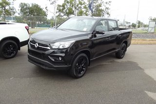 2021 Ssangyong Musso Q201 MY20.5 Ultimate Crew Cab XLV Black 6 Speed Sports Automatic Utility.