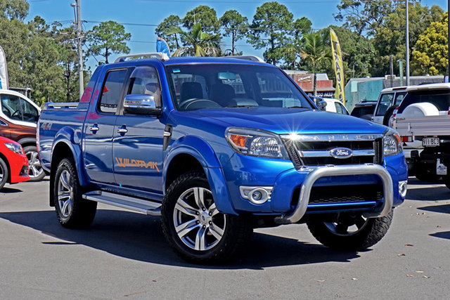 Used Ford Ranger PK Wildtrak Crew Cab Chandler, 2010 Ford Ranger PK Wildtrak Crew Cab Blue 5 Speed Manual Utility