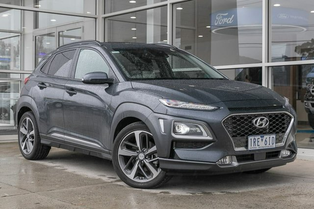 Used Hyundai Kona OS.3 MY20 Highlander D-CT AWD Ferntree Gully, 2020 Hyundai Kona OS.3 MY20 Highlander D-CT AWD Grey 7 Speed Sports Automatic Dual Clutch Wagon
