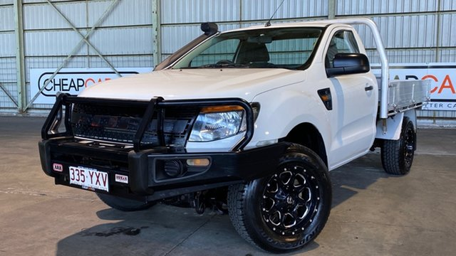 Used Ford Ranger PX XL Rocklea, 2013 Ford Ranger PX XL White 6 Speed Manual Cab Chassis
