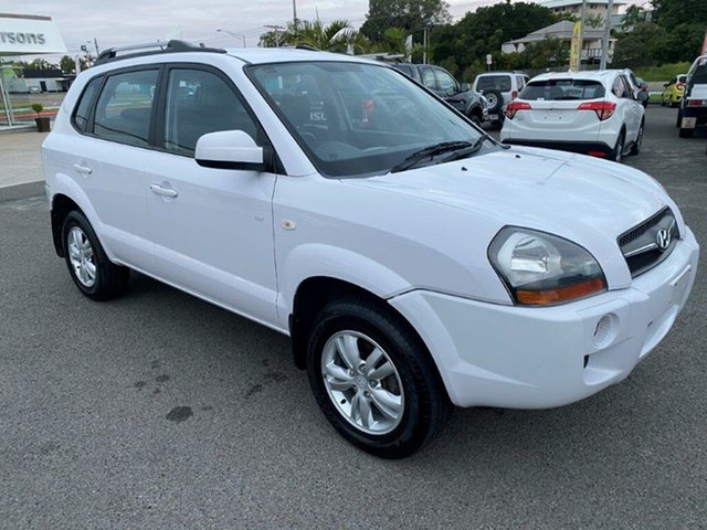 Used Hyundai Tucson JM MY07 City SX Gladstone, 2008 Hyundai Tucson JM MY07 City SX White/209308 4 Speed Sports Automatic Wagon