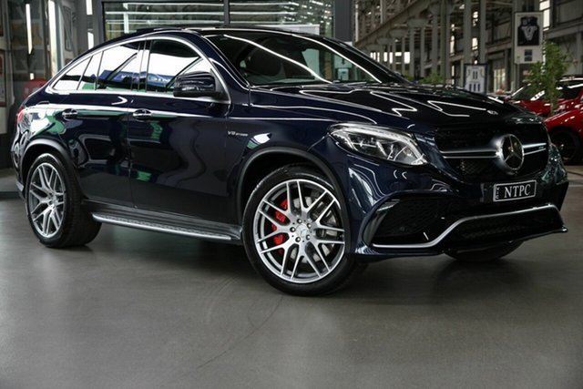 Used Mercedes-Benz GLE-Class C292 MY809 GLE63 AMG Coupe SPEEDSHIFT PLUS 4MATIC S North Melbourne, 2018 Mercedes-Benz GLE-Class C292 MY809 GLE63 AMG Coupe SPEEDSHIFT PLUS 4MATIC S Blue 7 Speed
