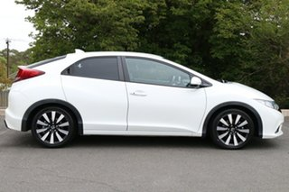 2014 Honda Civic 9th Gen MY14 VTi-LN White Orchid 5 Speed Sports Automatic Hatchback
