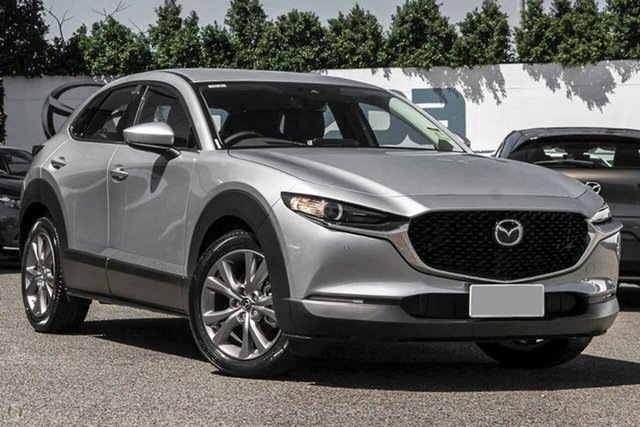 New Mazda CX-30 DM2W7A G20 SKYACTIV-Drive Touring Waitara, 2021 Mazda CX-30 DM2W7A G20 SKYACTIV-Drive Touring Silver 6 Speed Sports Automatic Wagon