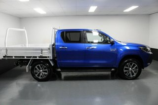 2018 Toyota Hilux GUN126R SR5 Double Cab Blue 6 Speed Sports Automatic Utility
