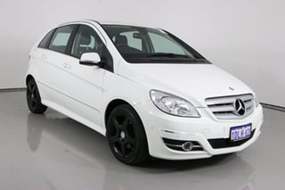 2010 Mercedes-Benz B180 245 MY10 CDI White Continuous Variable Hatchback.