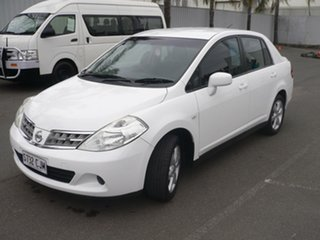 2012 Nissan Tiida C11 S3 ST White 4 Speed Automatic Sedan
