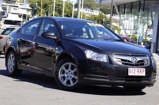 2010 Holden Cruze JG CD Black 5 Speed Manual Sedan.