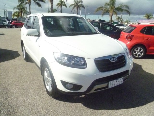 Used Hyundai Santa Fe CM MY12 SLX Moorabbin, 2011 Hyundai Santa Fe CM MY12 SLX White 6 Speed Sports Automatic Wagon